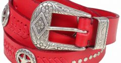 Red Leather Belt – An Incredible Ornament!