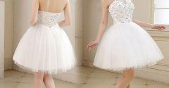 How does a short ball gown define your figure?